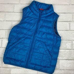 Uniqlo Blue Puffer Zip Vest 6-7 Years